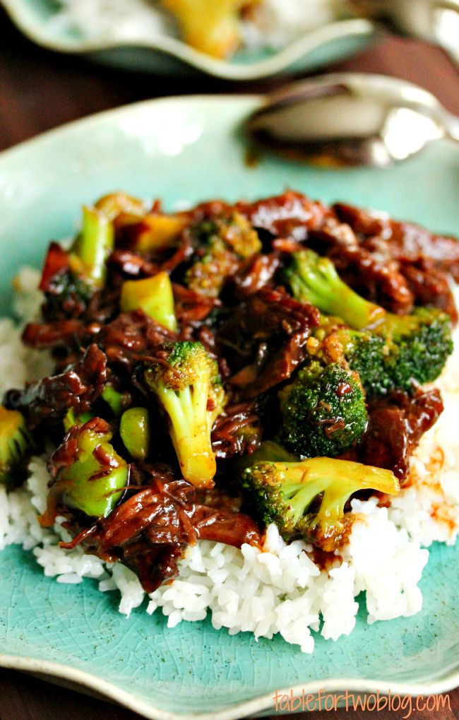 The BEST beef and broccoli dish ever! And it's all made in the SLOW COOKER!