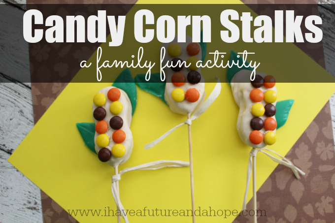 Candy Corn Stalks Fall Family Fun Activity